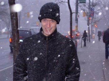 Iain in a Canadian snowstorm