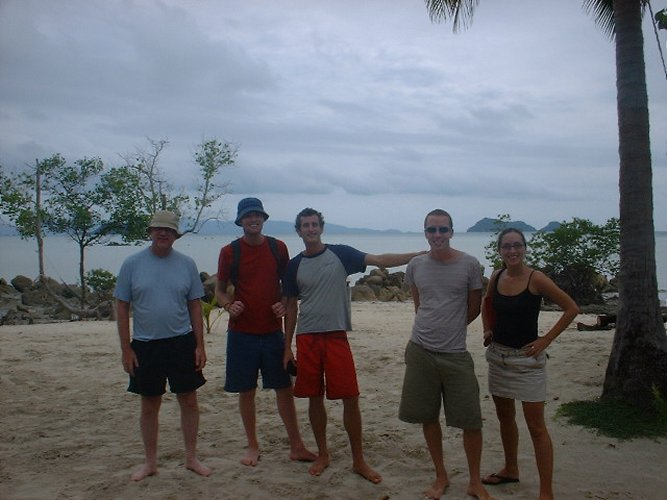 the gang on the Beach
