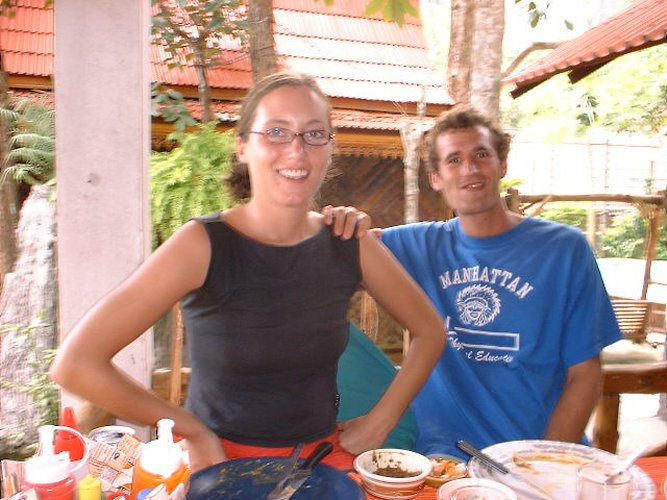 Chris & Ellie at the Indian Restuarant